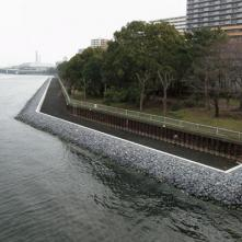 Revetment Works at Ooi Block in Keihin Canal