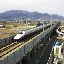 Elevated Bridge of Nagano Shinkansen in Imai