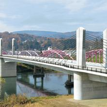 飯山市中央橋エクストラドーズド橋